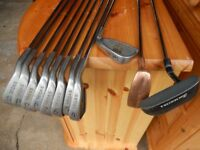 Golf Club Set (Right Hand) - John Letters MIDAS Golf Irons, Assorted woods & putter plus golf bag