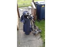 Howson Tour Master Power Series Clubs + Hooded Bag + Trolley + Extras