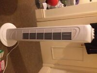 Lightly Used White Oscillating Fan