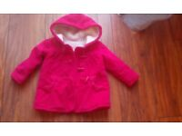 Girls red coat 12-18 months