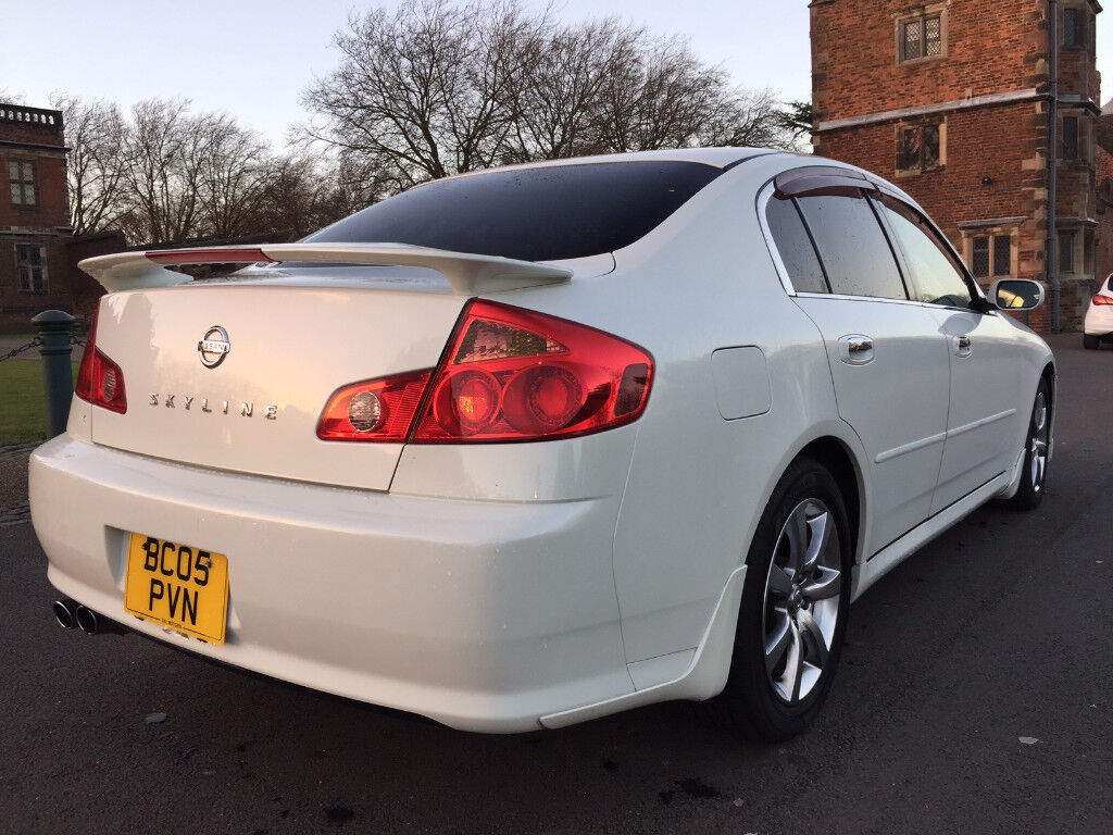 STUNNING 2005 PEARL NISSAN SKYLINE 250GT 2.5 V6 61K (NOT GS300 IS250 MARK X BMW) NEW IMPORT