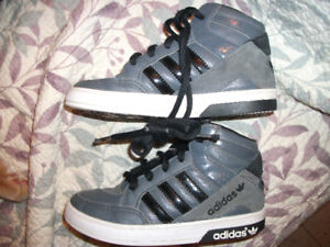 Boys ADIDAS Grey Ortholite High Top Shoes - Toddler Size 12