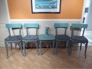 4 chaises bistrot relooker