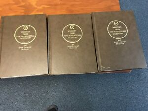 Webster's Third New International Dictionary, A Set of 3