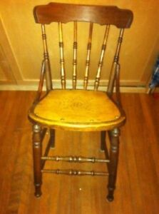 Rustic vintage kitchen chair