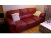 Free to take ASAP-3 Seater Settee(Leather)Red