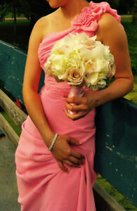 Bridesmaid Wedding Dress - Color: Blossom Pink - Size: 2