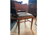 Retro/Antique Solid Wood Danish Dining Chairs x 4