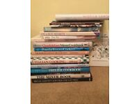 Diverse collection of cookery books