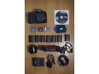 CANON 7D BUNDLE (Body + Lens + Batteries + Cards + Charger)
