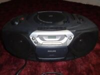 PHILIPS AZ1005 CD/RADIO & CASSETTE RECORDER