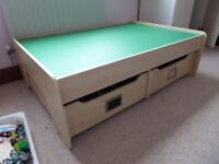 Play table with 2 x drawers