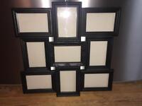 Mulitiple photo frame - black