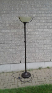 Floor Torch Lamp With Tri-Bulb 50-100-150 Watt Bulb Included