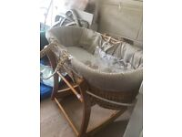 Next Moses basket and stand