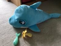 Blue blue the dolphin, interactive toy.