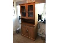 Solid Oak Dresser, in good condition - Small amount of candle damage that would be easily sanded out