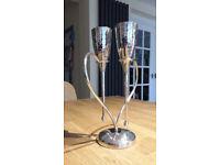 Beautiful Champagne flutes, centrepiece, love glasses, wedding toast, wedding / anniversary gift.
