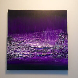 Purple Heart - Deep Textured Abstract Painting for sale Now!