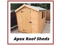 HIGH Quality 5x4 Apex roof Garden Sheds (ALL SIZES) LOW Prices (Free Delivery & Free Installation)