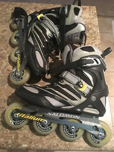 Like new Salomon Titalium dr120 rollerblades