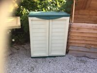 Plastic Utility Cabinet. Ex-display. PICK UP TODAY..