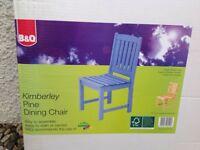 X4 wooden garden chairs