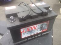 BRAND NEW HEAVY DUTY CAR/VAN BATTERY FULLY CHARGED AND READY TO GO