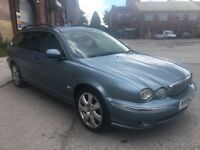 2005 JAGUAR X-TYPE SE 2.0 DIESEL, ESTATE, MANUAL, FULL LEATHER, LONG MOT, HIGH MILEAGE, P/X TO CLEAR