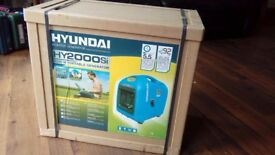 Hyundai 2000W Portable Petrol Inverter Generator - HY2000SI (Brand New)