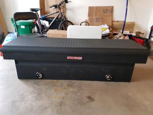 Matte black weather guard truck tool box