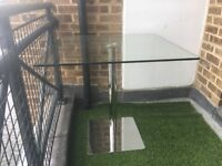 Modern Glass Table (Barely Used)