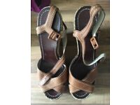 Ladies size 5 wedge shoes