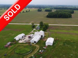 SOLD 188+Acres By Gorrie Fordwich w Empty Dairy + 2 Rental Homes