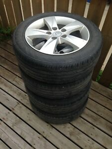 Set of 205/55/16 tires and alloy rims