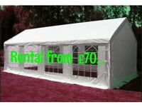 From £70 MARQUEE /FOLDING CHAIR £1/PARTY CANOPY TENT HIRE