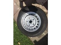 TRANSIT WHEEL WITH GOOD TYRE 40 POUNDS!!!!!!!!!!!!!!!!!!