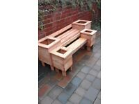 New adult and child garden benches with end planters