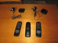 Gigaset AL410A/A455 cordless telephone - 3 x handset / handsets chargers - SPARES