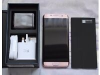 Brand new SAMSUNG GALAXY S7 Edge pink gold