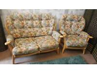 Conservatory ercol style sofa suite.delivery available
