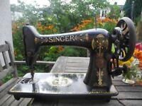 Vintage 66k Singer Lotus Sewing Machine
