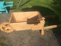 New Handmade wheelbarrow planter