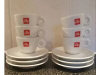 Illy Espresso Cup and Saucers x6