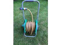 Hoselock Hose Pipe Reel on Wheels