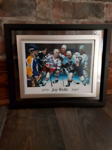 Jay wells framed and signed photo
