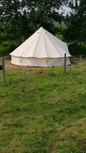NEW LARGE BELL TENT - BEAUTIFUL