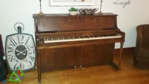 Upright Piano with bench