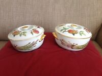 2 Royal Worcester Casserole dishes