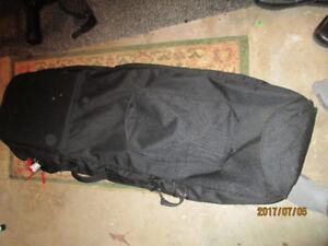 Golf Travel Cover Bag Black with shoe/equipment pocket